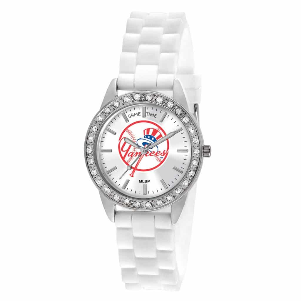 New York Yankees Top Hat Ladies Quartz Analog Frost Watch