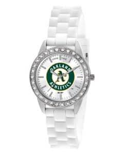 Oakland Athletics Ladies Quartz Analog Frost Watch
