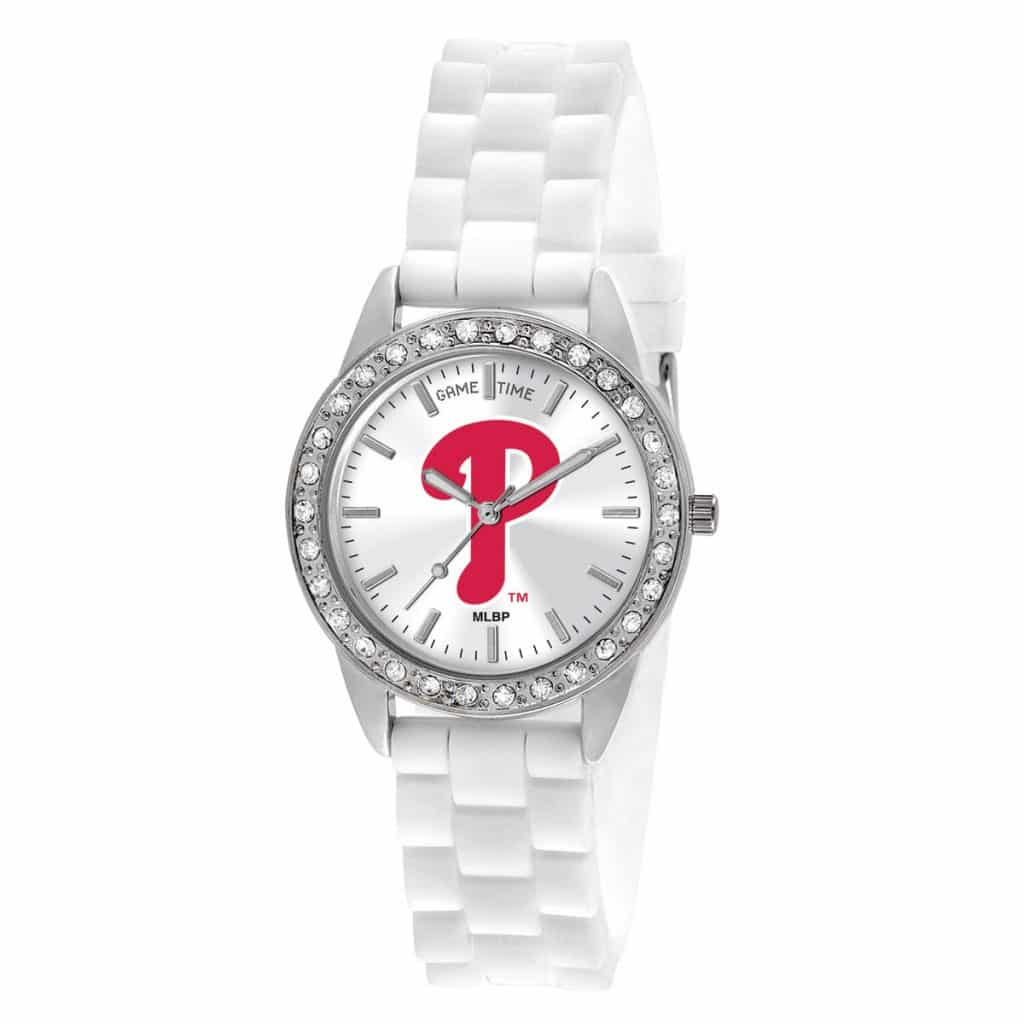 Philadelphia Phillies P Logo Ladies Quartz Analog Frost Watch