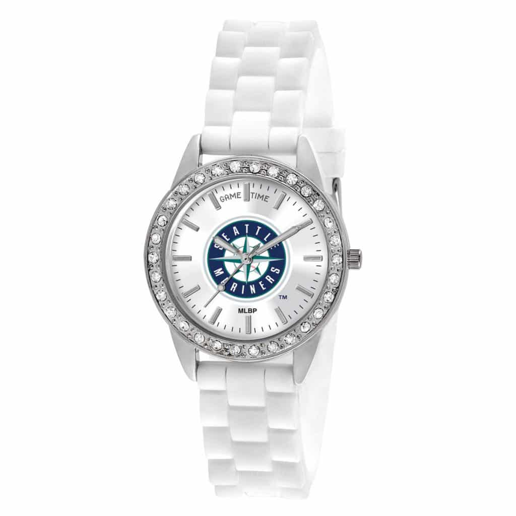 Seattle Mariners Ladies Quartz Analog Frost Watch