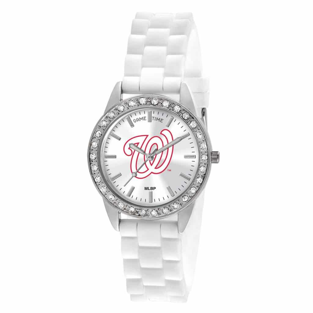 Washington Nationals Ladies Quartz Analog Frost Watch