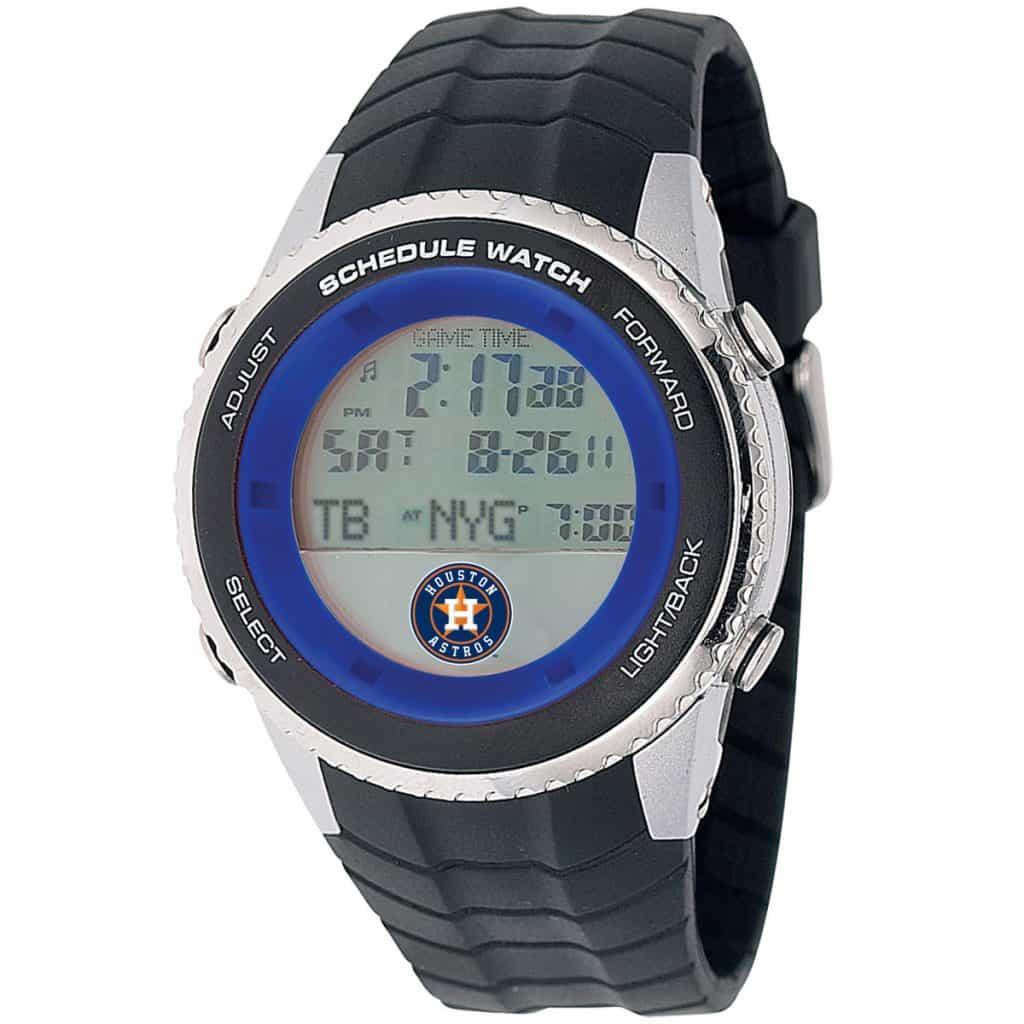 Houston Astros Mens LCD Schedule Watch