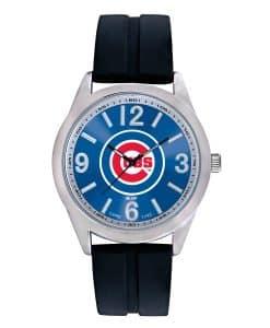 Chicago Cubs Mens Quartz Analog Varsity Watch