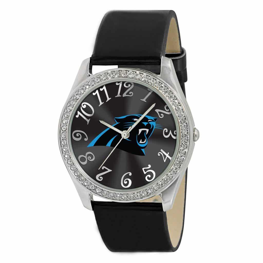 finest selection ce785 c3617 Carolina Panthers Ladies Quartz Analog Glitz Watch