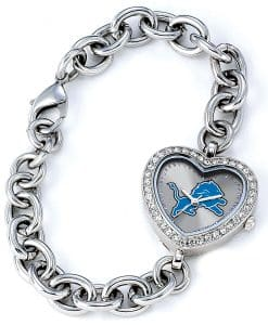 Detroit Lions Ladies Heart Watch