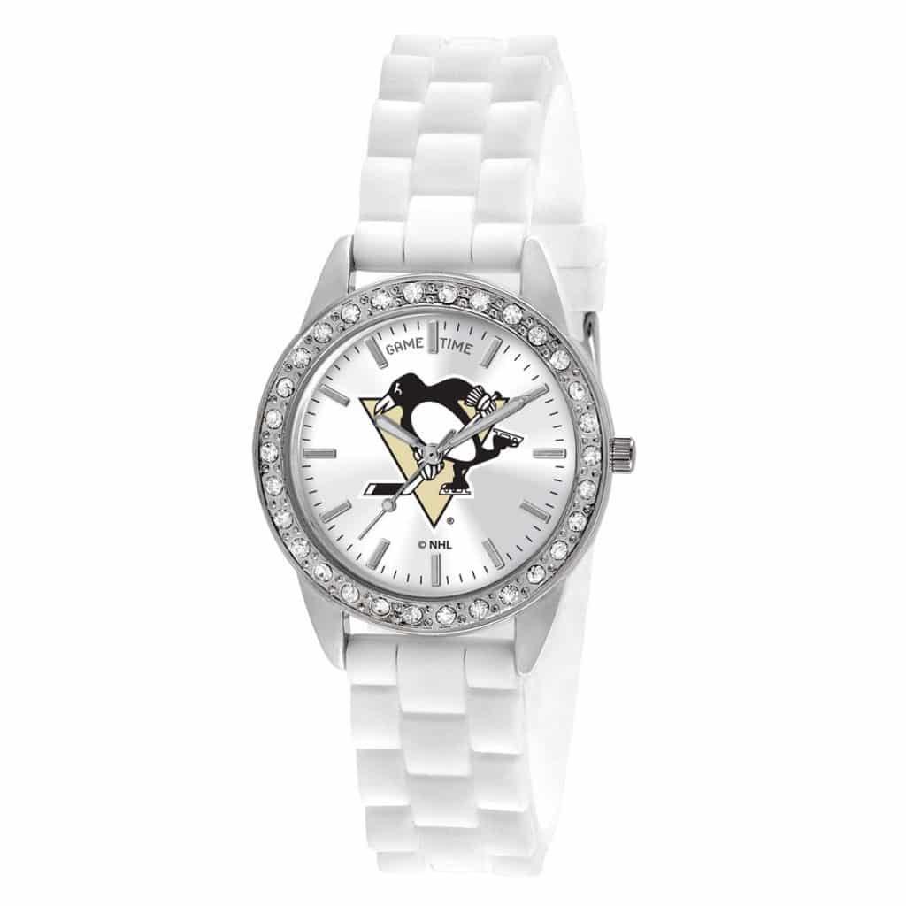 Pittsburgh Penguins Ladies Quartz Analog Frost Watch