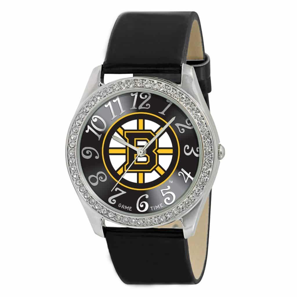Boston Bruins Ladies Quartz Analog Glitz Watch