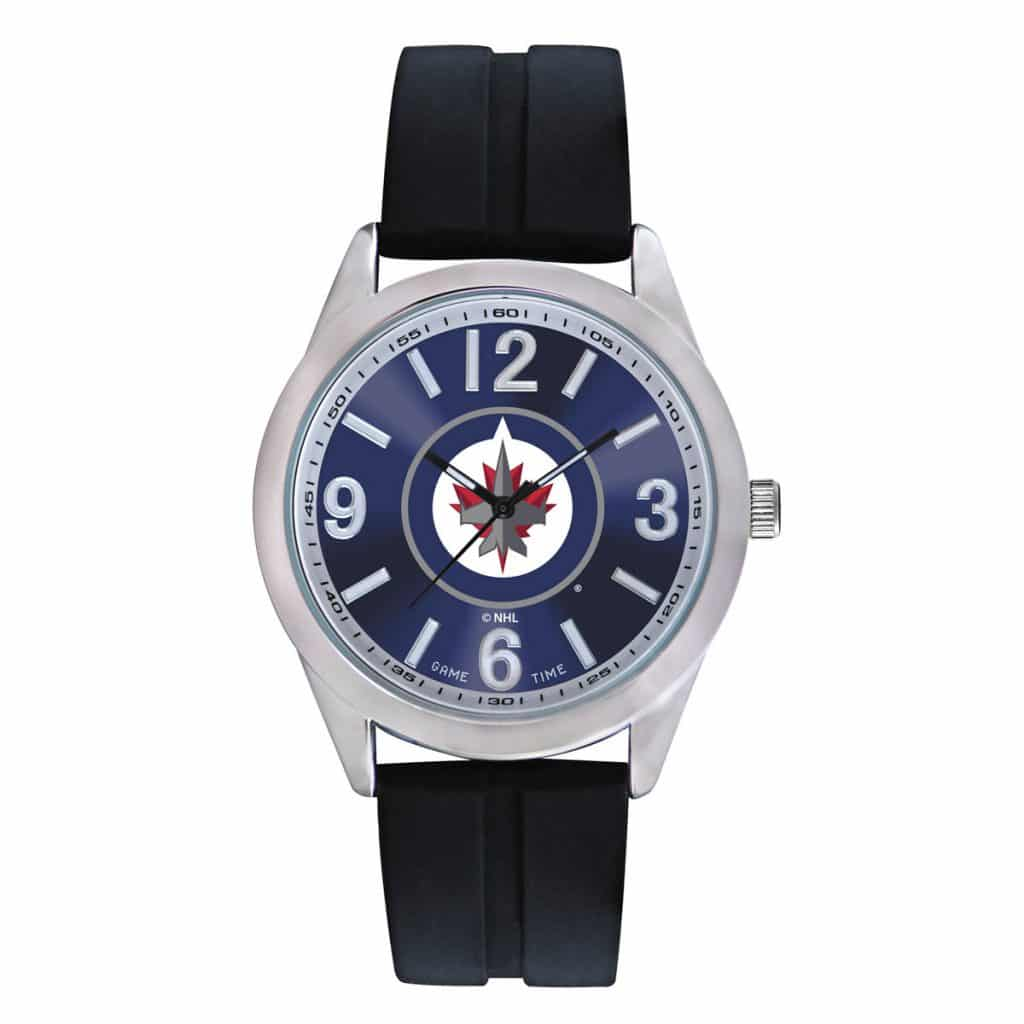 winnipeg jets mens quartz analog varsity detroit