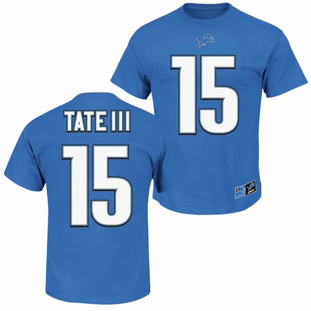 Golden Tate III Detroit Lions Player T-Shirt