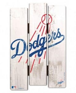 LA Dodgers Wood Fence Sign
