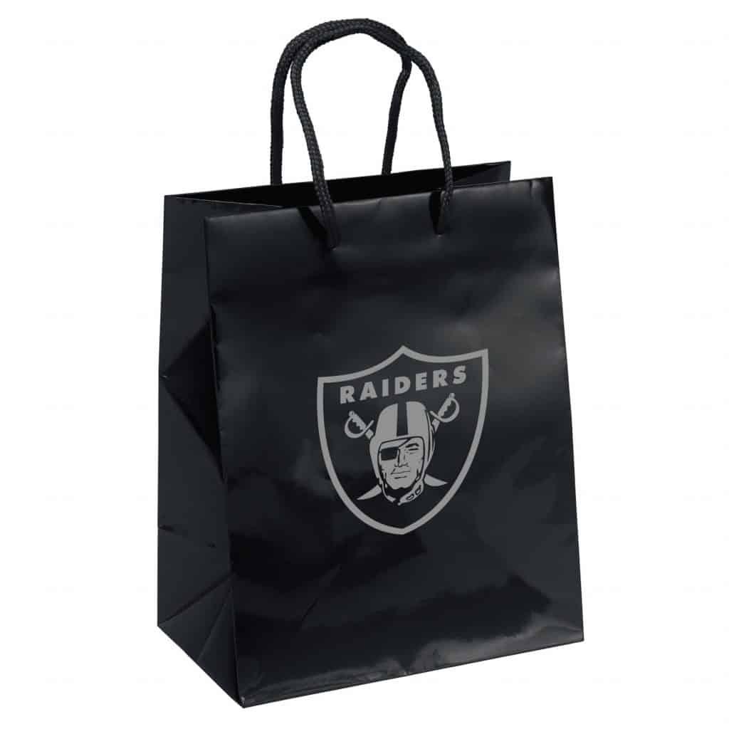 3c0448f96ba Oakland Raiders Gift Bag - Elegant Foil - Detroit Game Gear