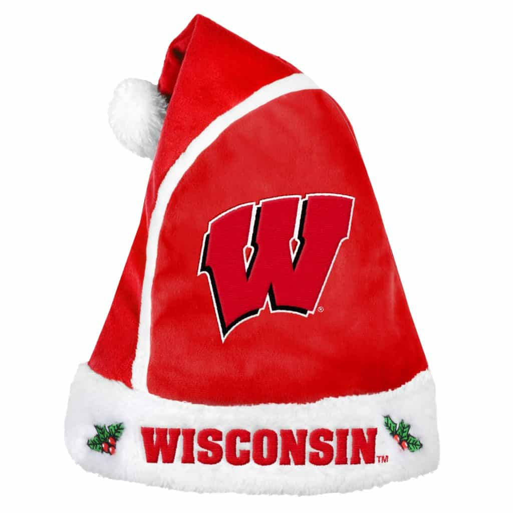 8a9de728a5274 Wisconsin Badgers 2015 Christmas Santa Hat - Detroit Game Gear
