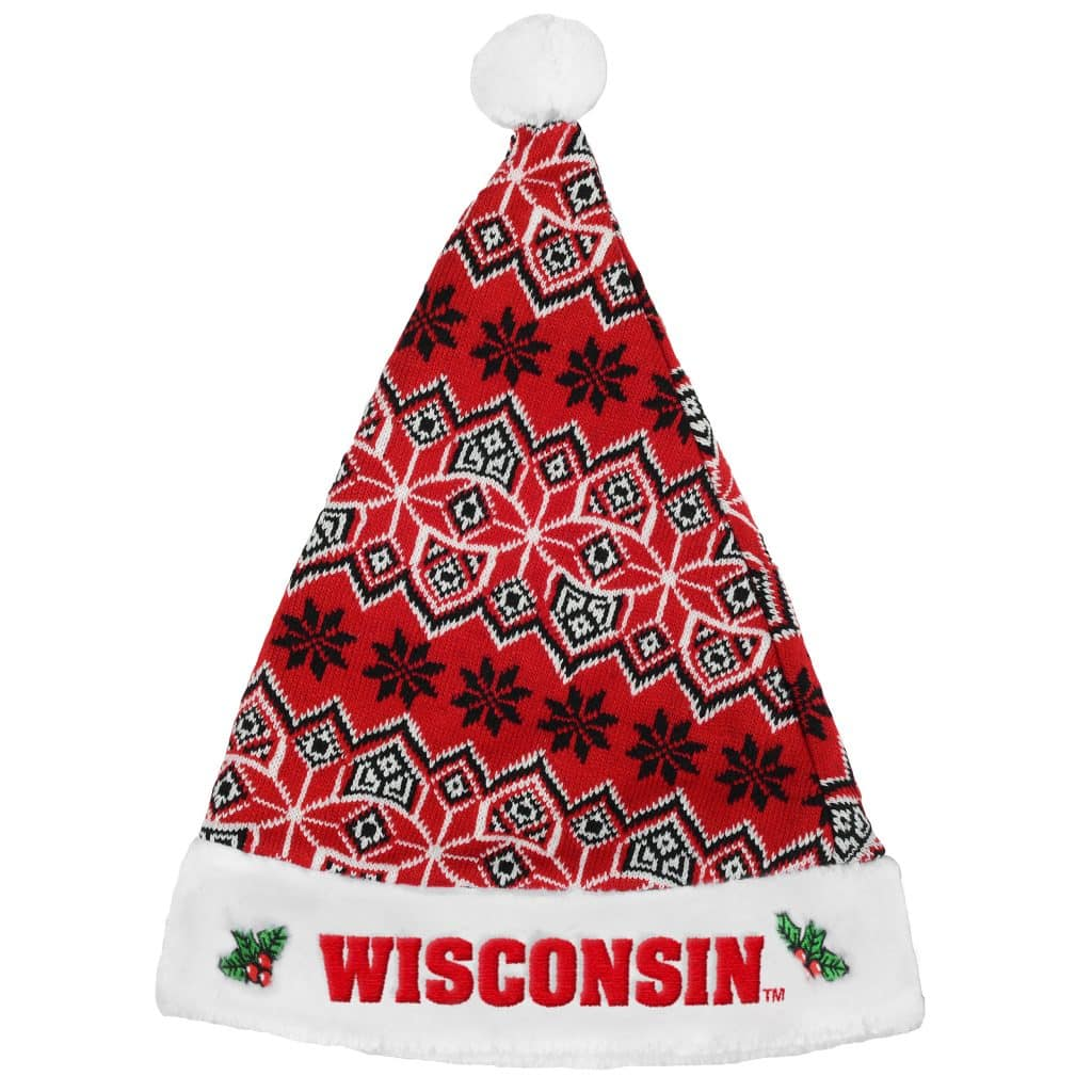 5cb65e6647aa7 Wisconsin Badgers 2015 Knit Christmas Santa Hat - Detroit Game Gear