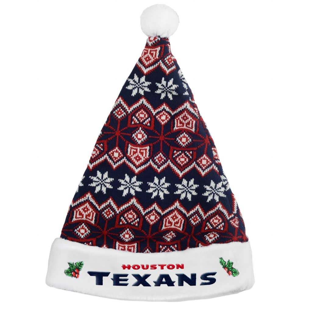 houston texans 2015 knit christmas santa hat detroit game gear - Christmas In Houston 2015