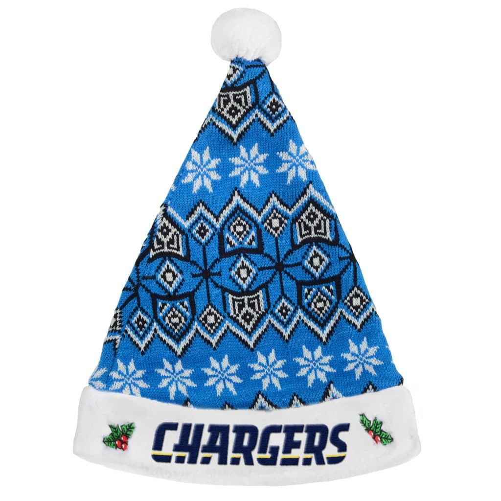 San Diego Chargers Christmas: San Diego Chargers 2015 Knit Christmas Santa Hat