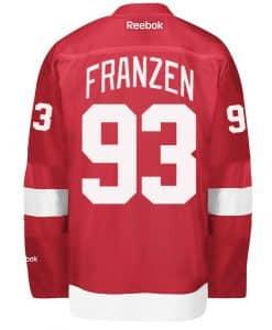 Franzen Red Wings Reebok Premier Home Jersey