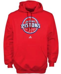 Detroit Pistons Adidas Red Hoodie