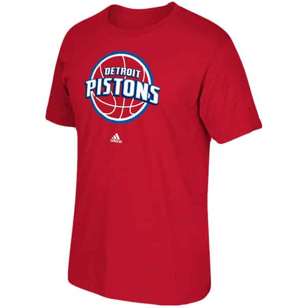 Detroit Pistons Logo Red T-Shirt