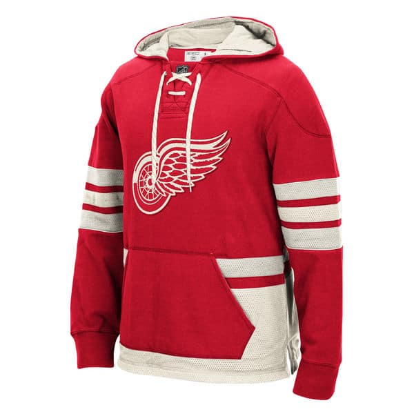 Detroit Red Wings CCM Red Pullover Jersey Hoodie