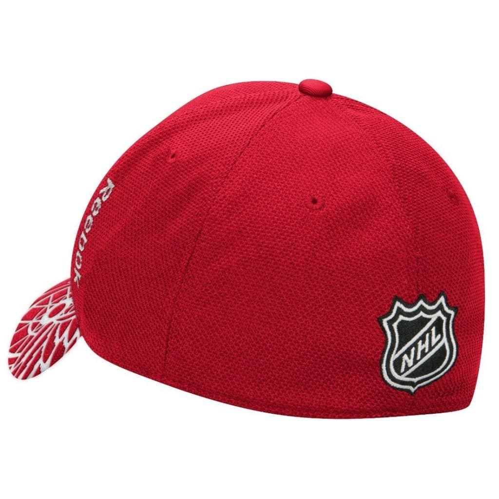 Detroit Red Wings Reebok Draft Flex Fit Hat The Back