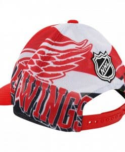 Detroit Red Wings Reebok Structured Snapback Hat The Back