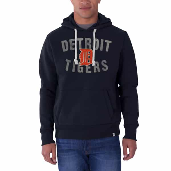 factory authentic 66a47 d917c Detroit Tigers 47 Brand Navy Cross Check Hoodie