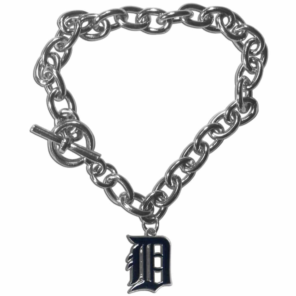 detroit tigers charm chain bracelet detroit gear