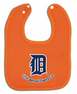 Detroit Tigers Orange Baby Bib