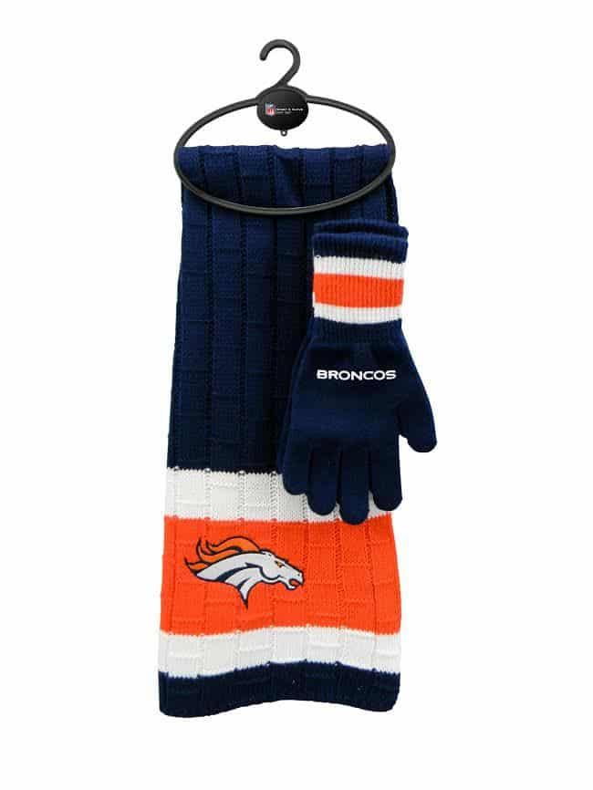 Denver Broncos NFL Scarf & Glove