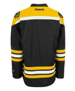 Boston Bruins Adult Reebok Premier Home Jersey Back