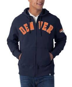 Denver Broncos NFL 47 Brand Full Zip Hoodie
