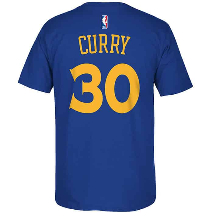 huge selection of 336bb 0f6c2 Stephen Curry Adidas Blue Player Tee T-Shirt - Detroit Game ...