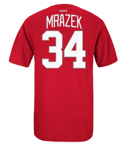Petr Mrazek Reebok Detroit Red Wings Red Player Tee