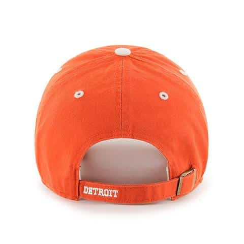 Detroit Tigers 47 Brand Orange Ice Clean Up Adjustable Hat Back