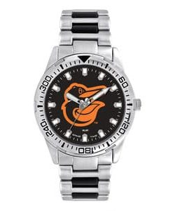 Baltimore Orioles Mens Quartz Analog Silver Heavy Hitter Watch