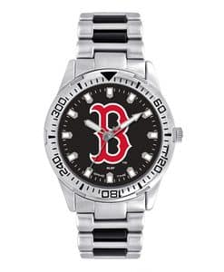 Boston Red Sox Mens Quartz Analog Silver Heavy Hitter Watch