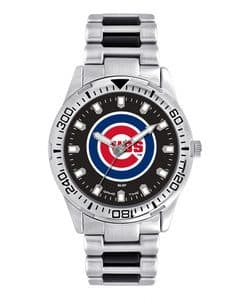 Chicago Cubs Mens Quartz Analog Silver Heavy Hitter Watch