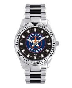 Houston Astros Mens Quartz Analog Silver Heavy Hitter Watch