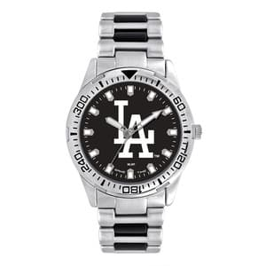 Los Angeles Dodgers Mens Quartz Analog Silver Heavy Hitter Watch
