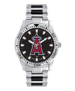 Los Angeles Angels Mens Quartz Analog Silver Heavy Hitter Watch