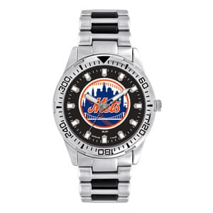 New York Mets Mens Quartz Analog Silver Heavy Hitter Watch