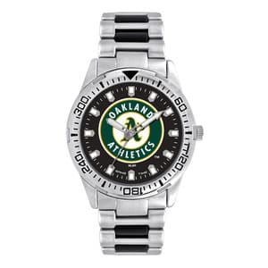 Oakland Athletics Mens Quartz Analog Silver Heavy Hitter Watch