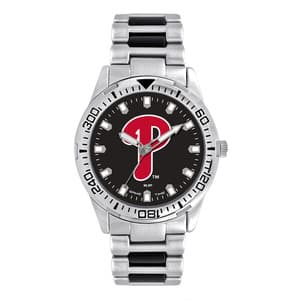 Philadelphia Phillies Mens Quartz Analog Silver Heavy Hitter Watch