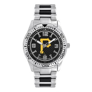 Pittsburgh Pirates Mens Quartz Analog Silver Heavy Hitter Watch