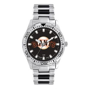 San Francisco Giants Mens Quartz Analog Silver Heavy Hitter Watch