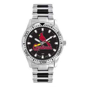 St. Louis Cardinals Mens Quartz Analog Silver Heavy Hitter Watch