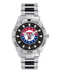 Texas Rangers Mens Quartz Analog Silver Heavy Hitter Watch