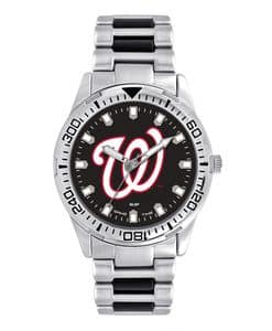 Washington Nationals Mens Quartz Analog Silver Heavy Hitter Watch