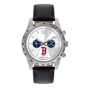 Boston Red Sox Mens Quartz Analog Letterman Watch