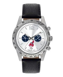 Cleveland Indians Mens Quartz Analog Letterman Watch